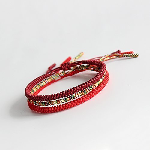 381aecd4ebb9a Image Unavailable. Image not available for. Color  TALE Lucky Rope Bracelet  Tibetan Buddhist Handmade Knots