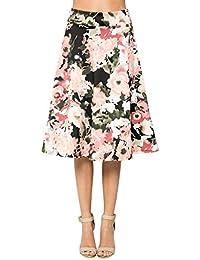 Women's A Line Knee Length High Waisted Skirt (Made in USA)