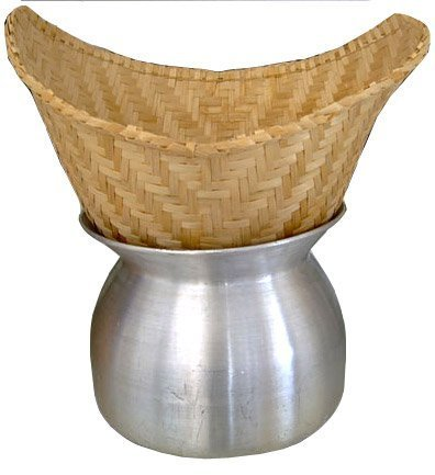 Sticky Rice Steamer Pot and Basket Bamboo Steamer Basket Set