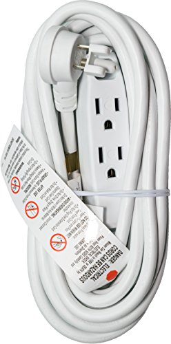 15 feet white extension cord - 3