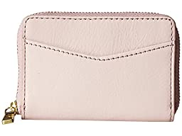 Rfid Mini Zip Wallet Wallet, Powder Pink, One Size