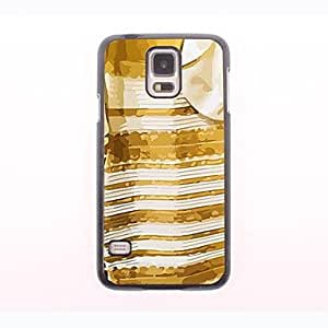 HJZ The White and Gold Dress Design Metal Case for Samsung Galaxy S5 I9600