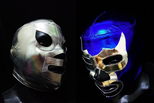 [LEGENDS COMBO WRESTLING MASK LUCHADOR COSTUME WRESTLER LUCHA LIBRE MEXICAN MASKE] (666 Halloween Costume)