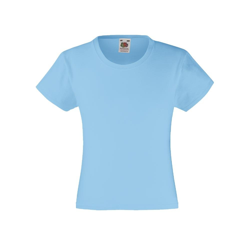 Fruit of the Loom Kinder Valueweight T Girls 61-005-0
