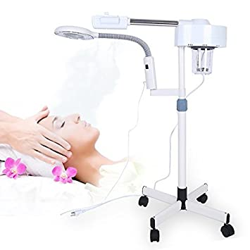 HURRISE Professional Facial Steamer 3X Magnifying Lamp Machine Spa Salon Beauty Skin Care Equipment Dr. Denese Resurface and Glow Treatment Wash 8 oz. (SKU-123)