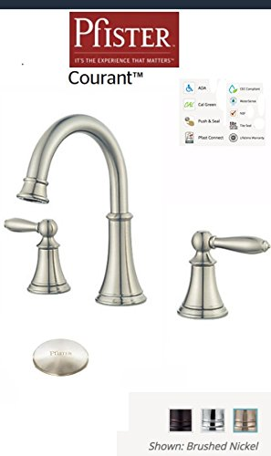 (Price Pfister Courant Widespread 2-Handle Bathroom Faucet in Brushed Nickel )