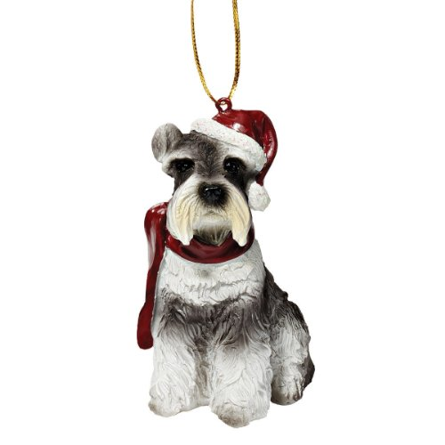 Design Toscano Christmas Ornaments - Xmas Miniature Schnauzer Holiday Dog Ornaments - Christmas Decorations