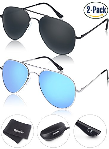 Young4us Aviator Sunglasses Polarized Metal Mirror UV400 Men Women Glasses