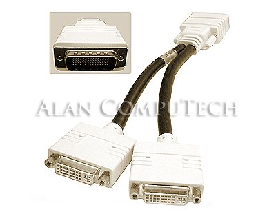 DMS-59 to Dual DVI-I Video Breakout Cable