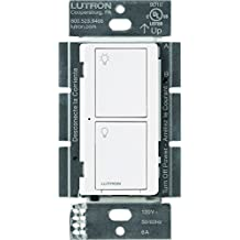 Caseta Wireless Smart Lighting Switch for All Bulb Types and Fans, PD-6ANS-WH, White, Works with Amazon Alexa