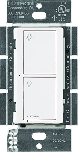 Lutron PD-6ANS-WH Caseta 6A Neutral Switch Electrical Distribution Switcher, 6 Amp, White