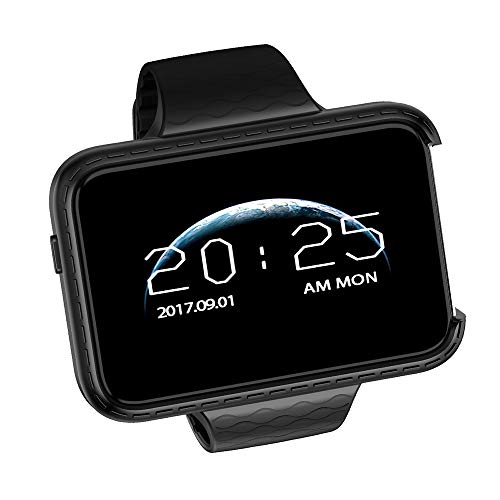 I5S 2G Smartwatch Phone 2.2 inch IPS Color Screen Dual Camera Modes 500mAh Battery Sleep Monitor Sedentary Reminder (Black)