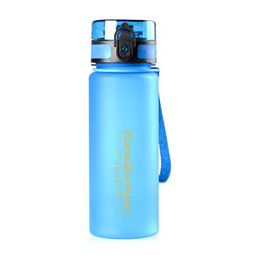 Sports Water Bottle 23oz/650ML, Open with One-Click Flip Top Leak Proof Lid Secured Lock Eco Friendly and Non-Toxic BPA Free, Drinking Bottle for Biking Travel Climbing Hiking Yoga or Office (Blue)