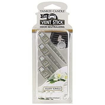 Amazon.com: Yankee Candle VENT STICK Fluffy Towels Set of 4: Kitchen ...