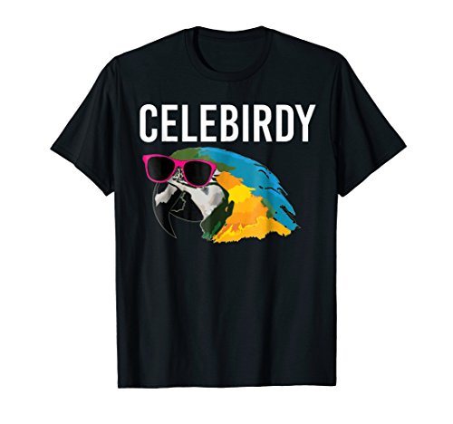 Funny Bird Lover Macaw Parrot Head Celebirdy T-Shirt