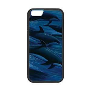 iPhone 6 4.7 Inch Cell Phone Case Black Wyland Dolphins JSK878830