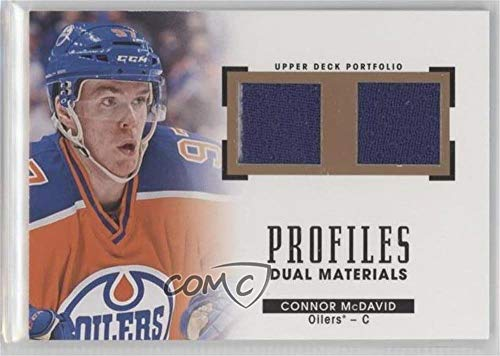 Connor McDavid (Hockey Card) 2015-16 Upper Deck Portfolio - Profiles Materials Dual Jerseys #PM2-CM