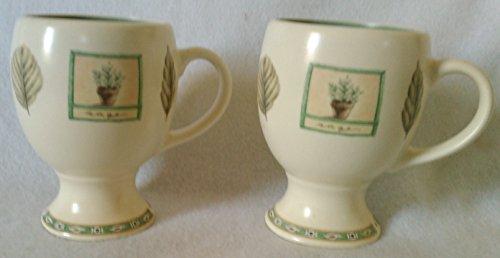 Pfaltzgraff Naturewood Cup - Pfaltzgraff Naturewood Pedestaled Mugs, Set of 2