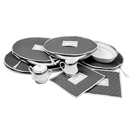 Richards Homewares Micro Fiber Deluxe Six Piece Accessory Set - Gray (7095)