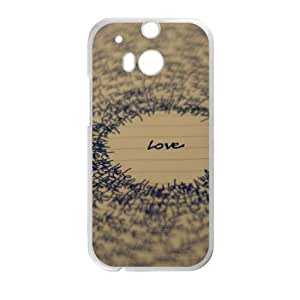 Love Typography 2 5 HTC One M8 Cell Phone Case White Customized Toy pxf005_9675899