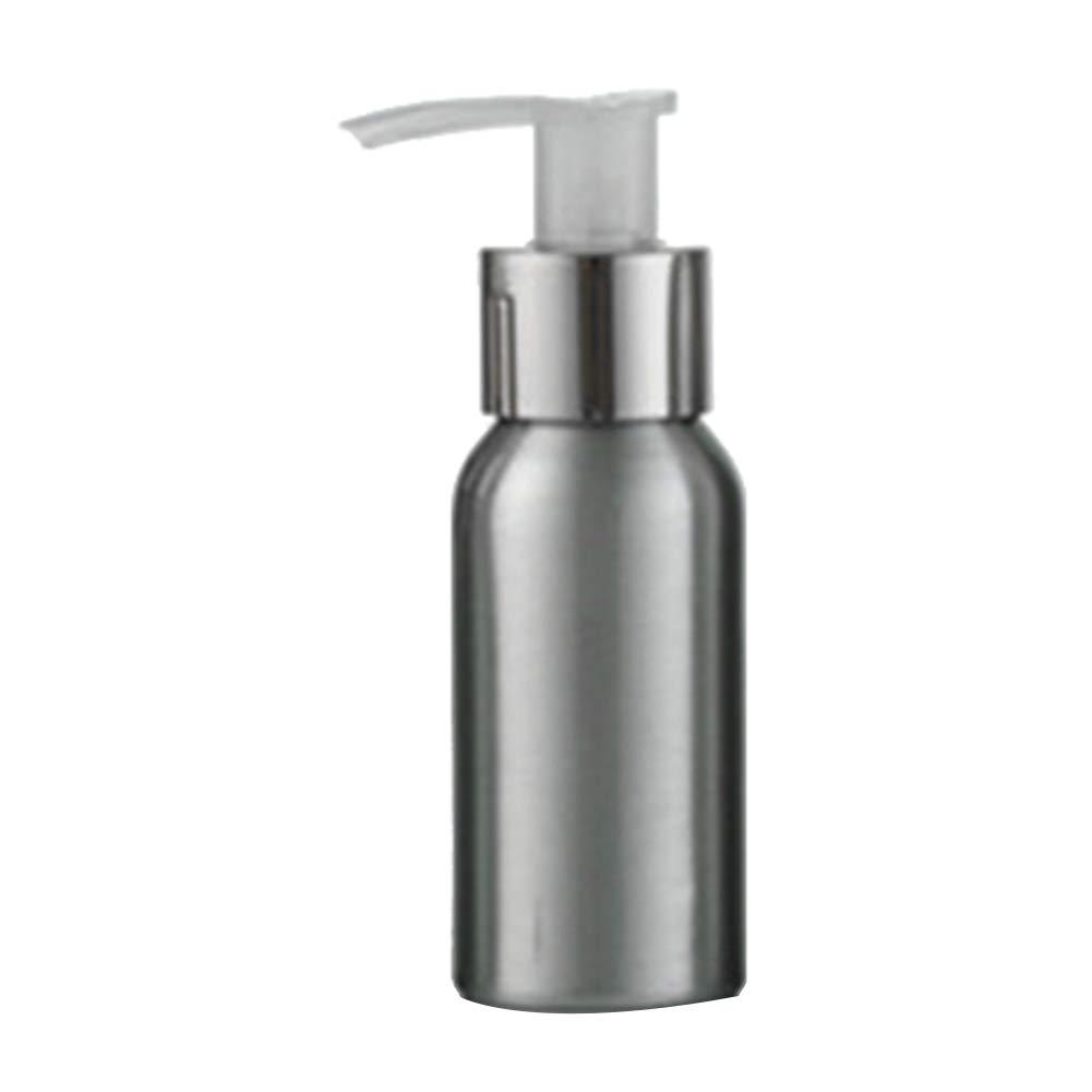 lightclub 40ml-250ml Rustproof Aluminum Bottle Pump Bottle For Shampoo Storage Lotion Sanitizer Pump Container For Travel Outdoor Silver 250ml