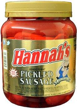 - Hannah's Pickled Sausage 32oz. (1 JAR)