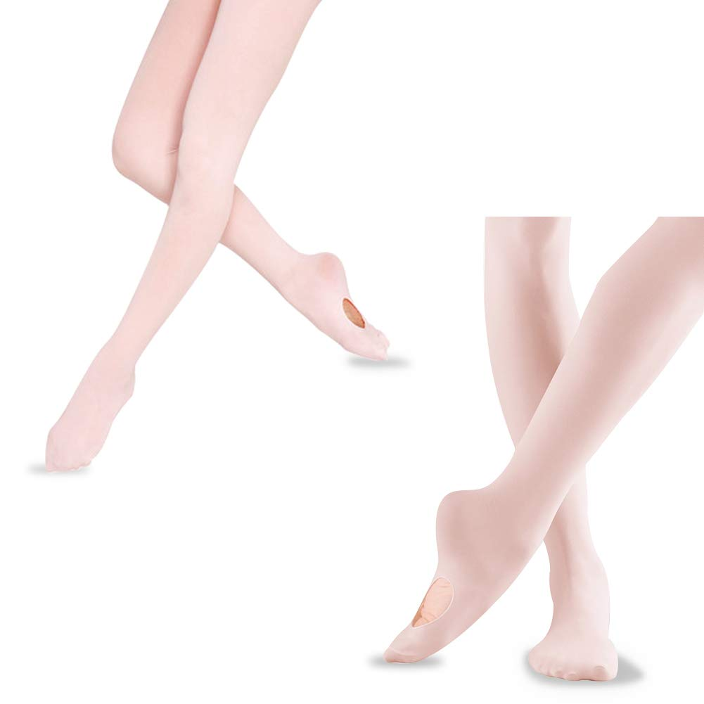 Ultra Soft Convertible Footed Tights for Toddler Girls Women Dance Ballet Tights for Girls