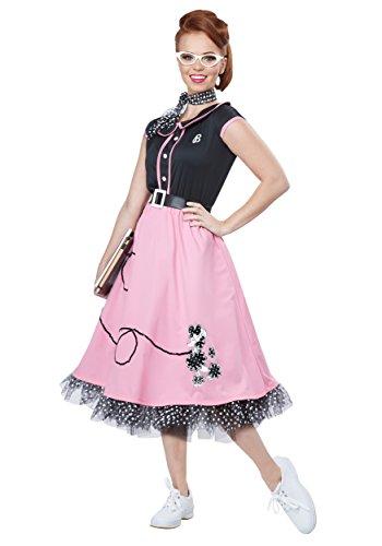 Ladies 50s Costumes - California Costumes Women's 50s Sweetheart, Black/Pink, Medium