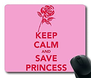 Keep Calm and Save Princess Rectangle mouse pad Your Perfect Choice by icecream design