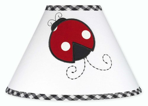 Sweet Jojo Designs Red and White Ladybug Polka Dot Girls Children's Lamp Shade ()