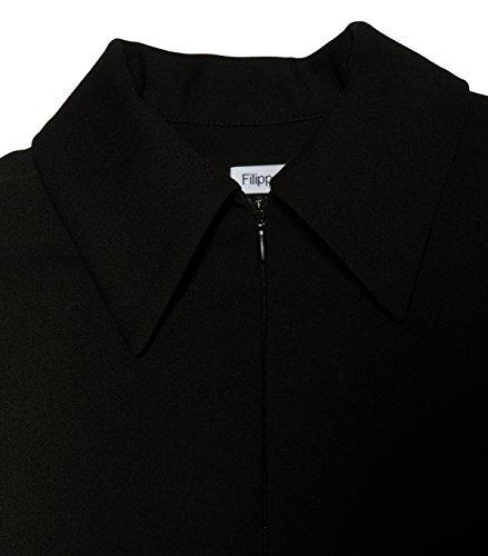 Schwarz Filippa Damen in Zip Black K Shirt Kleid 1433 xfgaTq