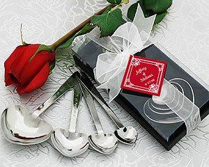 ''Love Beyond Measure'' Heart-Shaped Measuring Spoons in Gift Box - Set of 25 by Kate Aspen