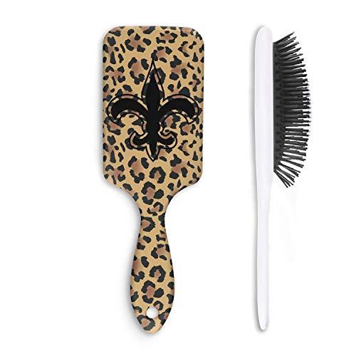 (Animal Leopard Print Skin Snakeskin Cushion Bristles Pin Hair Brush Paddle Brush Comb Reducing Hair Breakage Adding Shine Mens Womens Kids Girl for Hair Straightening & Smoothing for Wet Dry hair)