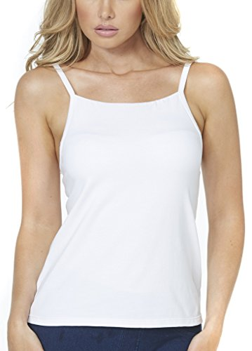 (Alessandra B Underwire (Smooth Seamless Cup) High Neck Camisole (34DD, White))