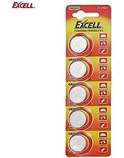 EXCELL 5 stücke 3 V CR2025 Lithium Knopfzelle für Elektronische Waage autoschlüssel Fernbedienung Caculator Wörterbuch (Silber)