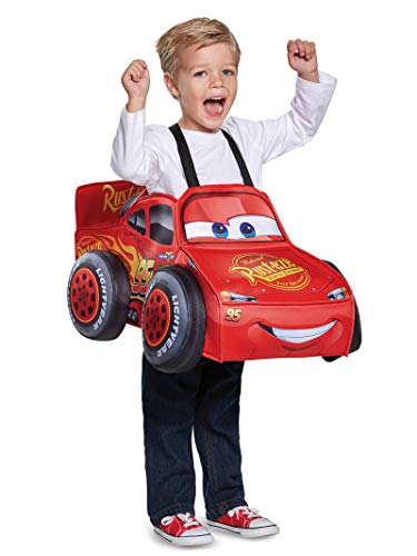 Cars Movie Halloween Costumes (Cars 3 Lightning Mcqueen 3D Toddler Costume, One Size (Up To Size)