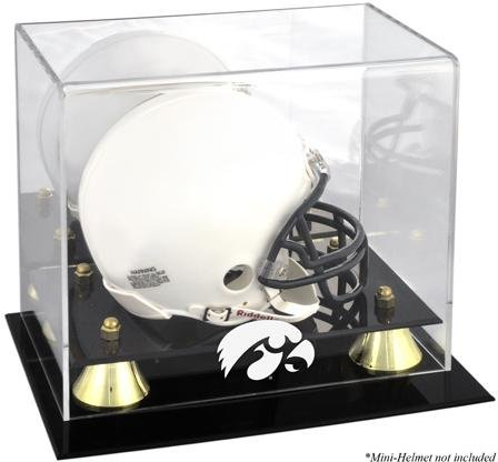 - Mounted Memories Iowa Hawkeyes Golden Classic Logo Mini Helmet Display Case