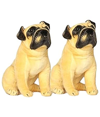 Deals India Pug Dog, Beige (25 cm, Pack of 2)