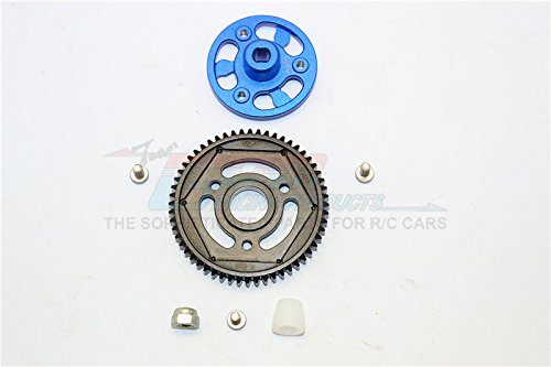 (Axial SCX10 II Upgrade Parts (AX90046) Aluminum Spur Gear Adapter + Steel Gear 56T - 1 Set Blue)