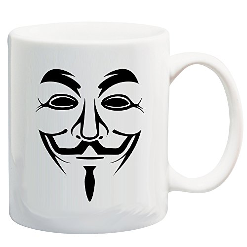 Guy Fawkes (Anonymous) Mask 11 Oz Coffee/Cocoa Mug by Carpe Diem Designs