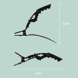 xtava Styling Hair Clips for Women - Set of 12 Professional Hair Clips with Hair Styling and Sectioning - Wide Teeth & Durable for Hair Salon Quality Alligator Hair Clips - 12 x Hair Clip