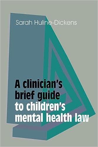 Book A Clinician's Brief Guide to Children's Mental Health Law