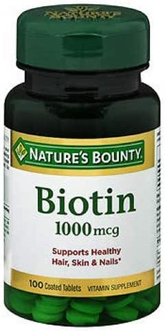 Nature's Bounty Biotin 1000 mcg Vitamin Supplement Tablets 100 ea (Pack of 2)