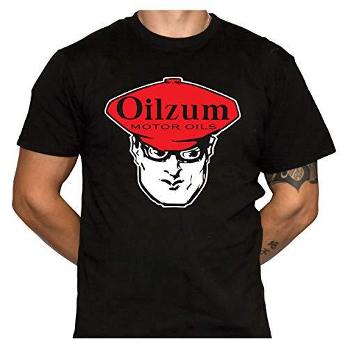 Oilzum Motor Oil T-Shirt - Retro Logo Shirt - Gildan 64000 Black T-Shirt (XX-Large)
