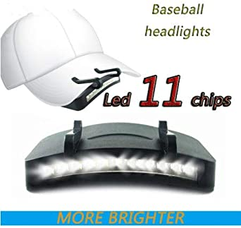 Clip On 3 LED Kopf Cap Hut Licht Kopf Lampe Taschenlampe Angeln Camping Outdoor