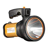 Bright Rechargeable Searchlight handheld LED Flashlight Tactical Flashlight with Handle CREE L2 Spotlight 1200 Lumens Ultra-long Standby Electric Torch with USB OUTPUT as a Power Bank (Golden)