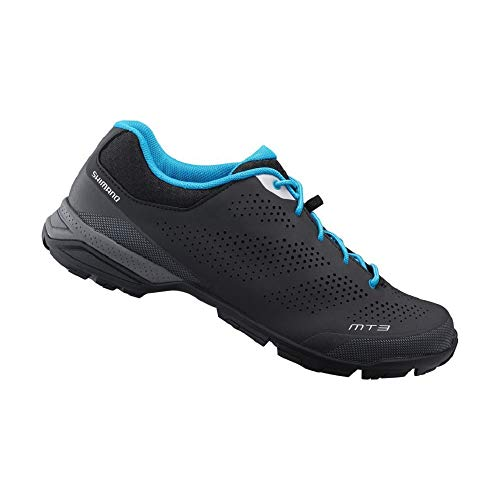 SHIMANO SH-MT301 LSG Series Multi-use; Touring; Casual MTB Bicycle Shoes; Black; 46 (Best Bicycle Touring Shoes)