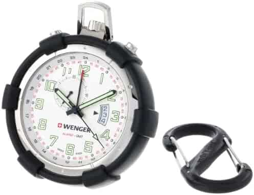 Wenger 73010 Traveler Alarm White Dial Pocket Watch