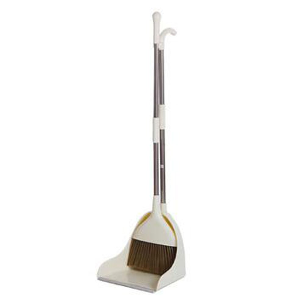 Kylin Express Durable Removable Broom and Dustpan Standing Upright Grips Sweep Set with Long Handle, B1