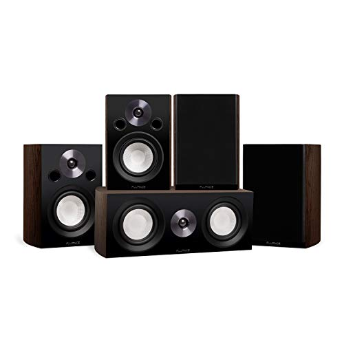 Fluance Reference Compact Surround Sound Home Theater 5.0 Channel Speaker System including 2-Way Bookshelf, Center…